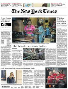 International New York Times - 13 October 2017
