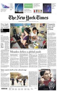 International New York Times - 6-7 April 2019