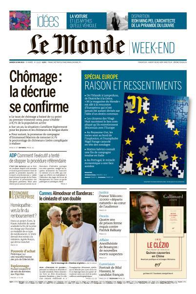 Le Monde du Samedi 18 Mai 2019