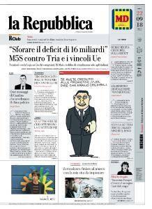 la Repubblica - 22 Settembre 2018