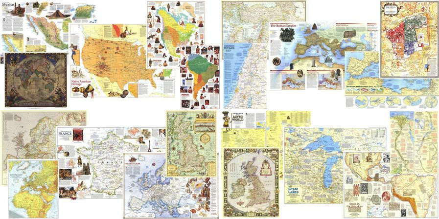 National Geographic Maps full 4 pack