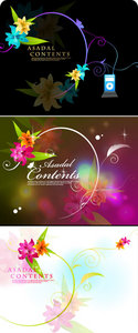 Vectors Floral Backgrounds
