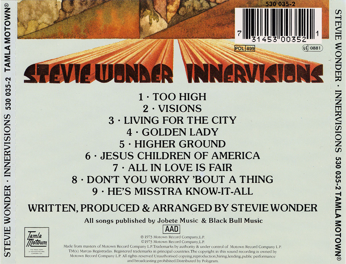 Stevie Wonder - Innervisions (1973) Non-Remastered [Re-Up]