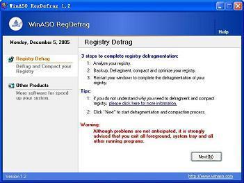 WinASO RegDefrag v1.2 Thinstalled