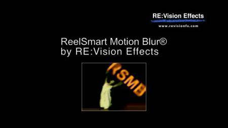 RevisionFX ReelSmart Motion Blur for Avid v5.0.3