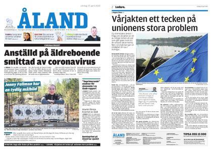 Ålandstidningen – 25 april 2020