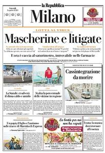 la Repubblica Milano - 2 Aprile 2020