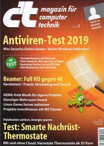 c't Magazin Nr.3 - 19 Januar 2019