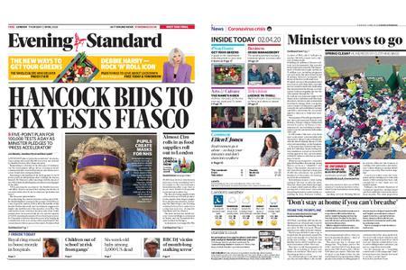 London Evening Standard – April 02, 2020