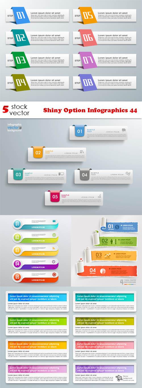 Vectors - Shiny Option Infographics 44