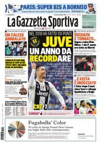 La Gazzetta dello Sport – 30 dicembre 2018