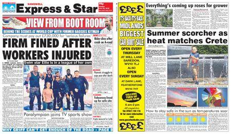 Express and Star Sandwell Edition – June 26, 2018