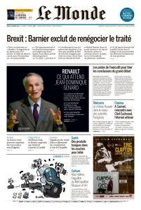 Le Monde du Jeudi 24 Janvier 2019