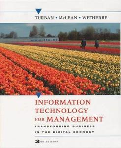 Information technology for management: transforming business in the digital economy