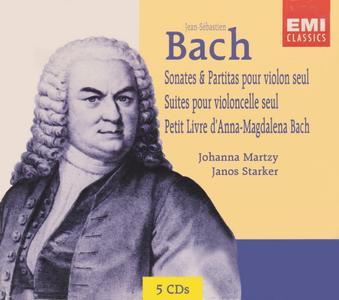 Bach - Sonates & Partitas Pour Violon Seul,Le Petit Livre D'anna-Magdalena Bach,Suites Pour Violoncelle Seul (1996) (5CD)