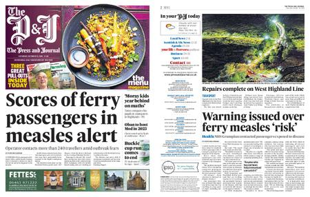 The Press and Journal Moray – October 19, 2019