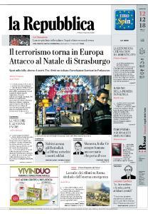 la Repubblica - 12 Dicembre 2018