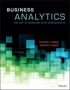Business Analytics: The Art of Modeling With Spreadsheets, 5th Edition