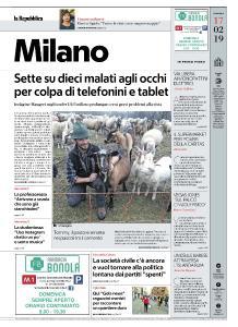 la Repubblica Milano - 17 Febbraio 2019
