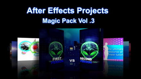 After Effects Projects Magic Pack Vol.03 More Than 100 Projects