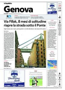 la Repubblica Genova – 23 aprile 2019