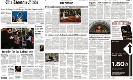 The Boston Globe – December 10, 2019