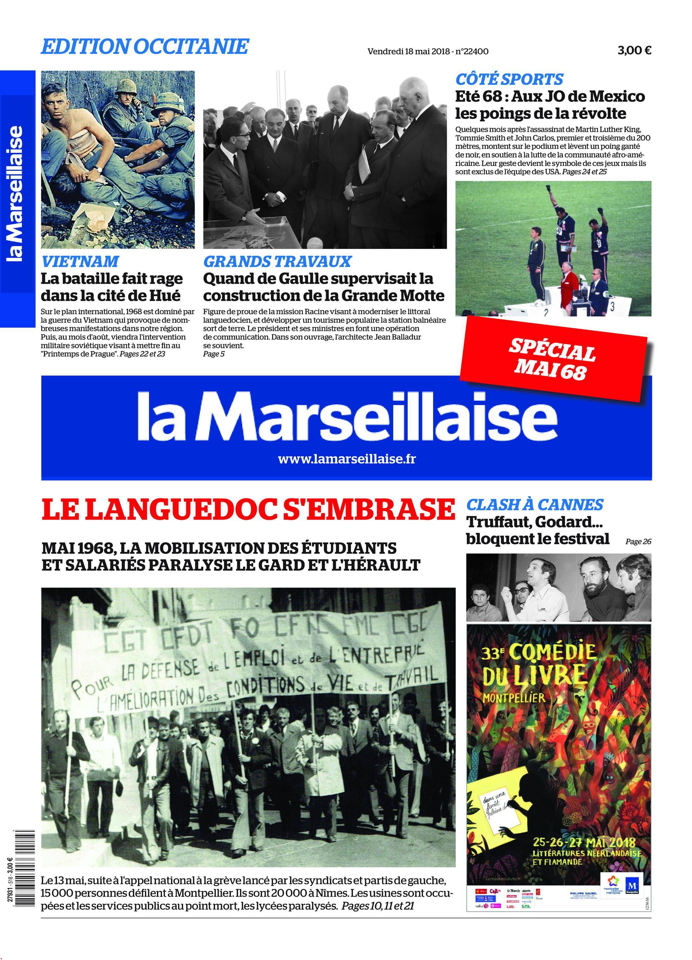 La Marseillaise du Languedoc - 18 mai 2018