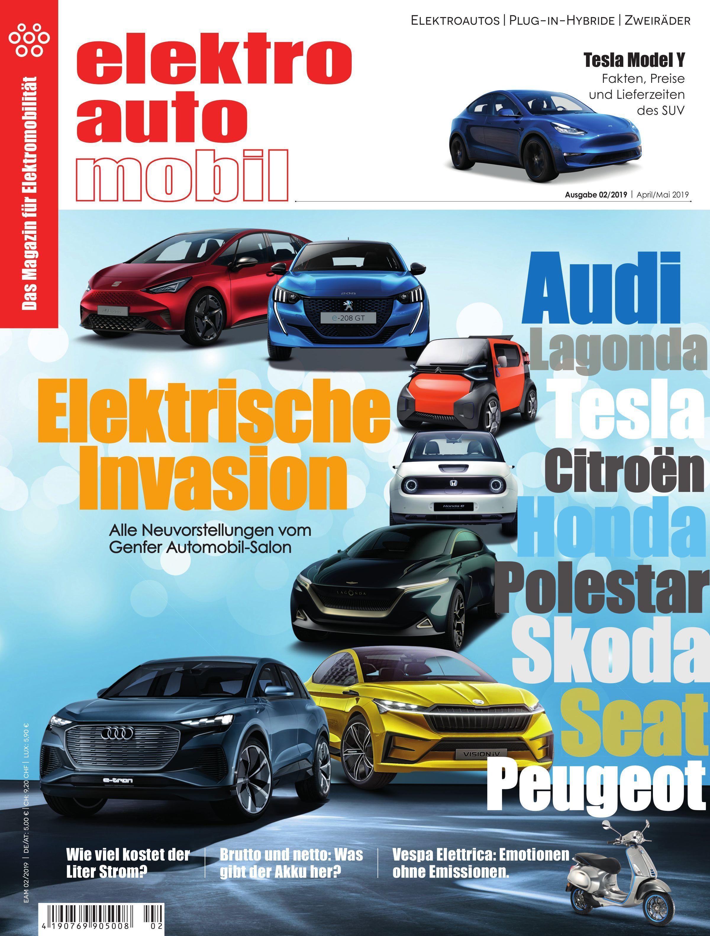 Elektroautomobil Austria – April 2019