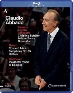 Claudio Abbado, Lucerne Festival Orchestra - Mozart: Concert Arias, Symphony No.35, Beethoven: Egmont (2014) [Blu-Ray]