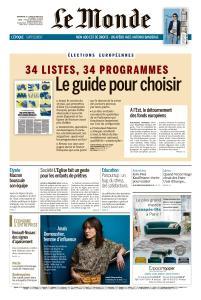 Le Monde du Dimanche 19 et Lundi 20 Mai 2019