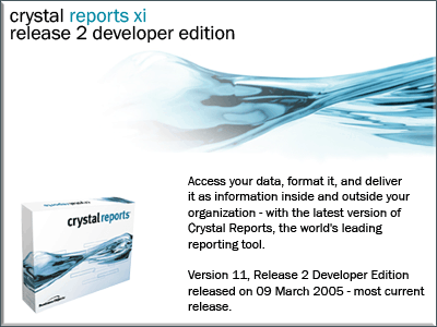 Crystal Reports XI Release 2 for Developers - Updated