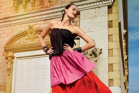 Isabeli Fontana and Karl Glusman by Cedric Buchet for Glamour US February 2016