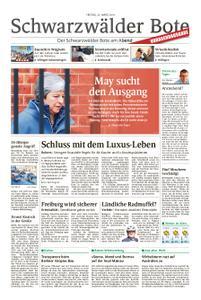 Schwarzwälder Bote St. Georgen, Triberg, Furtwangen - 22. März 2019