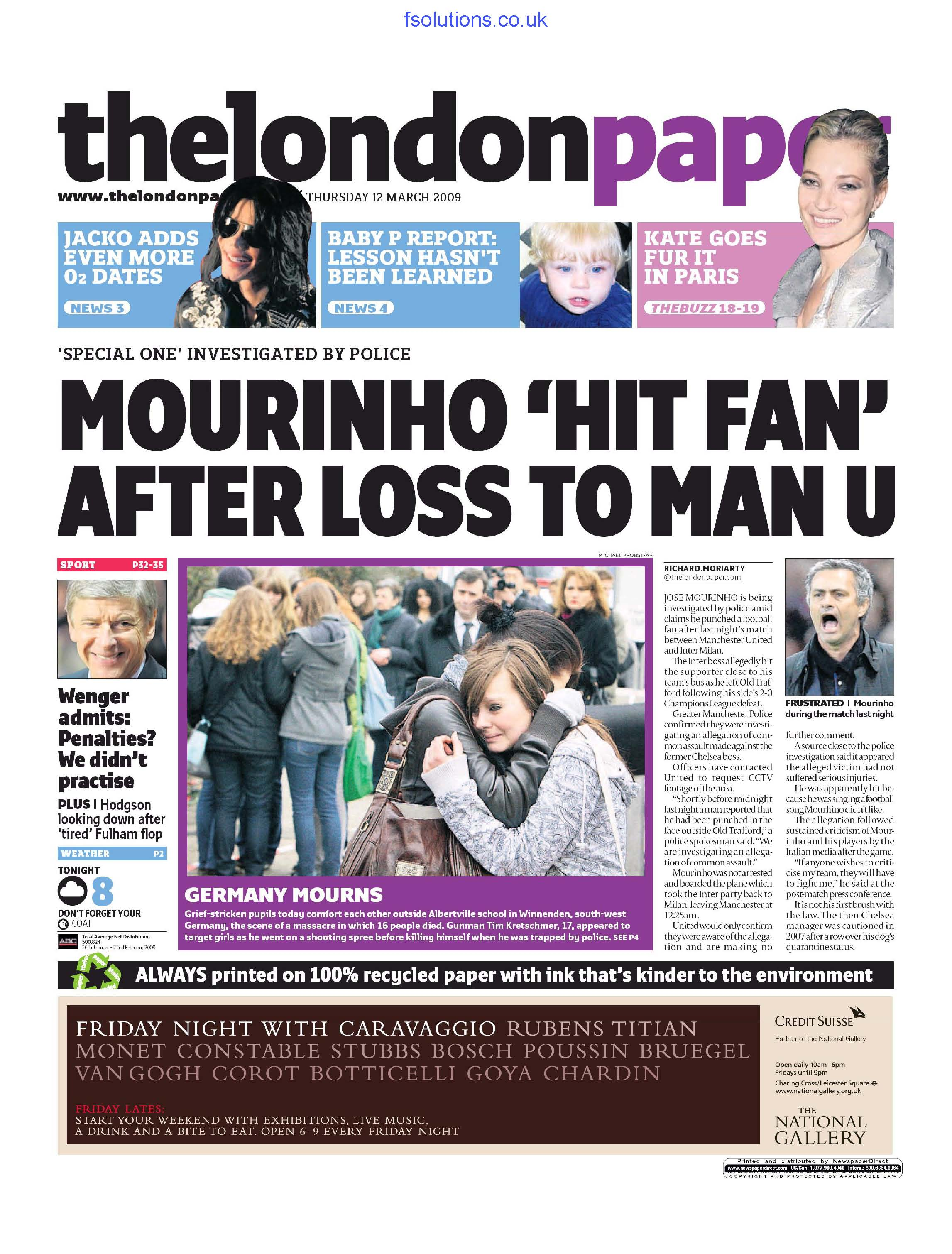 The London Paper 12 March 2009