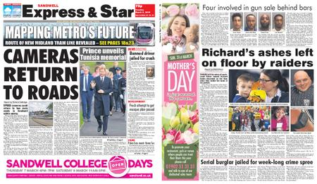 Express and Star Sandwell Edition – March 05, 2019
