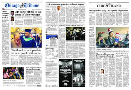 Chicago Tribune – December 16, 2017