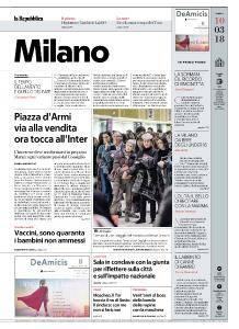 la Repubblica Milano - 10 Marzo 2018