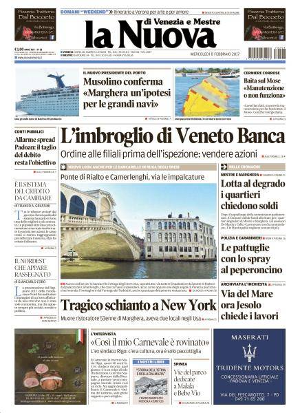 La Nuova Venezia - 8 Febbraio 2017