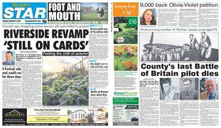 Shropshire Star Shrewsbury Edition – October 31, 2017