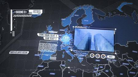 World Map Element 3D - Project for After Effects (VideoHive)
