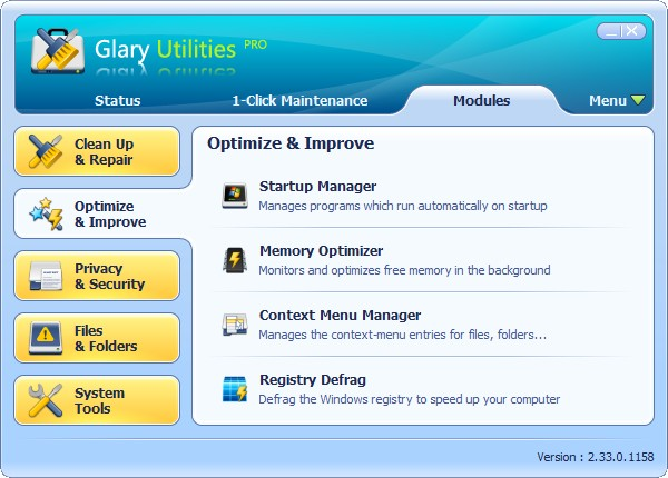 Glary Utilities Pro 2.36.0.1232 Multilanguage