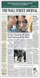 The Wall Street Journal – 18 March 2019
