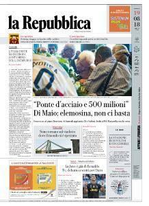 la Repubblica - 19 Agosto 2018