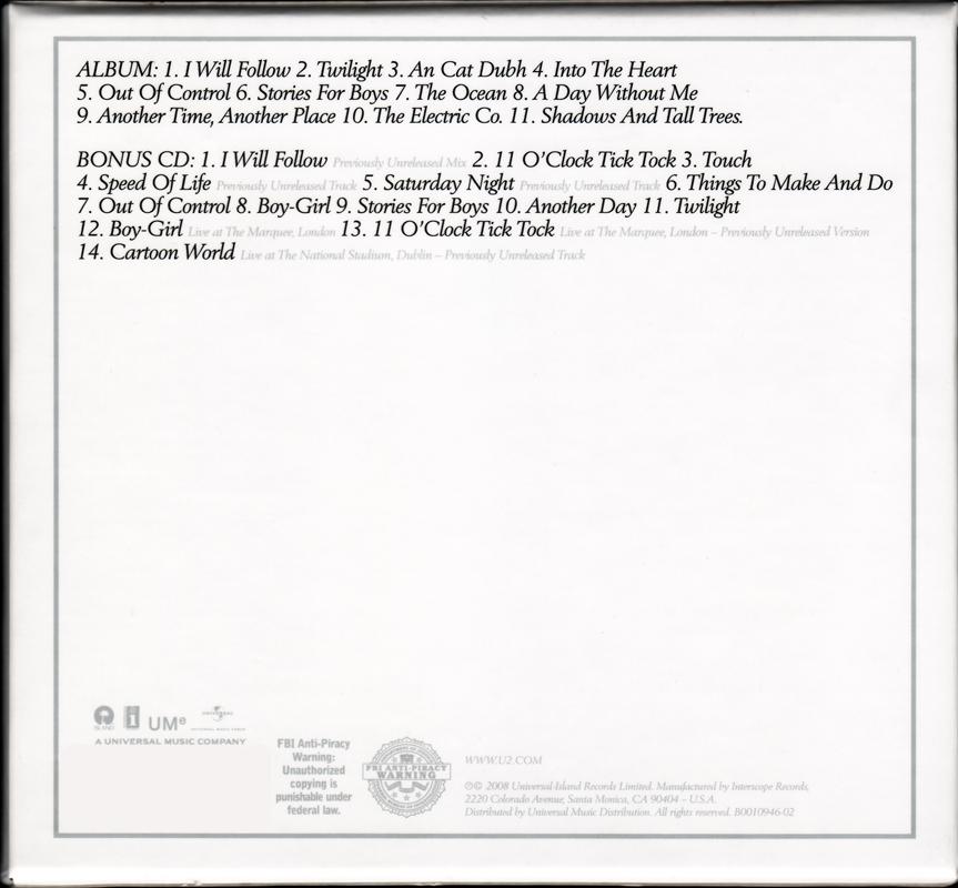 U2 - Boy (1980) [2CD, Deluxe Edition]
