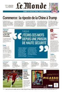 Le Monde du Dimanche 17 et Lundi 18 Juin 2018