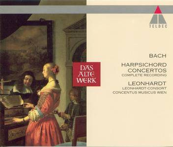 Gustav Leonhardt - J.S. Bach: Harpsichord concertos (Complete Recording) (1995) (Repost)
