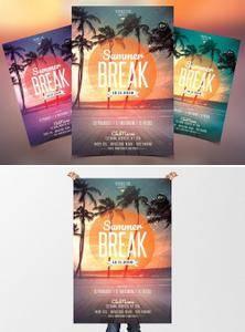 CM - Summer Break - PSD Flyer Template 2380025