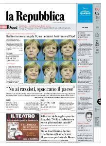 la Repubblica - 8 Febbraio 2018