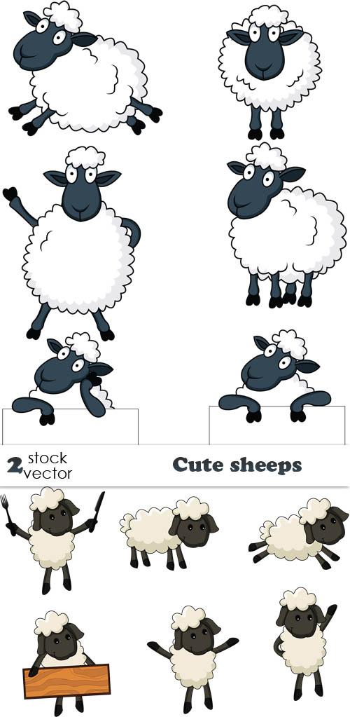 Vectors - Cute sheeps
