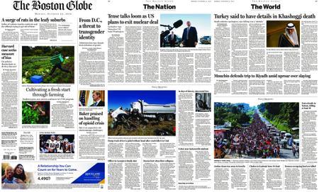 The Boston Globe – October 22, 2018